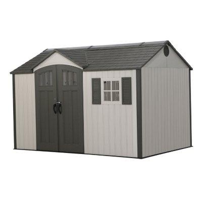Lifetime 15u0027 X 8u0027 Dual Entry Outdoor Storage Shed ...