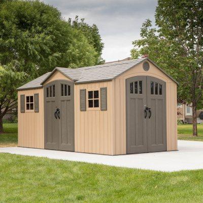 lifetime 20\u0027 x 8\u0027 outdoor storage shed building sam\u0027s clublifetime 15\u0027 x 8\u0027 outdoor storage shed
