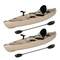 Lifetime 10' Tamarack Angler Kayak, 2 Pack With Paddles