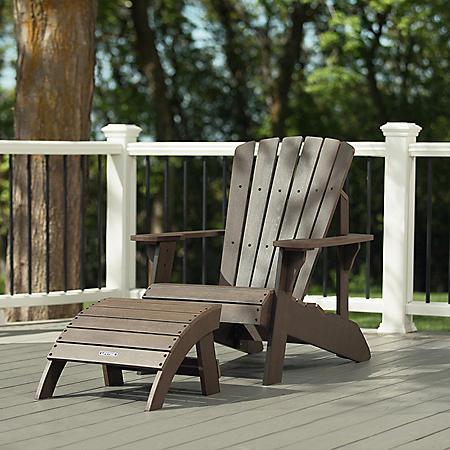 Lifetime Adirondack Chair and Ottoman Combo