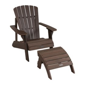 Peachy Lifetime Adirondack Chair And Ottoman Combo Sams Club Machost Co Dining Chair Design Ideas Machostcouk