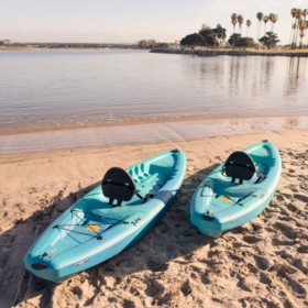 Lifetime 90894 Triton 100 Sit-On-Top Kayak, 2-Pack (Paddles Included)