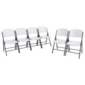 Lifetime Classic Folding Chair - 6 Pack (Commercial), Various Colors