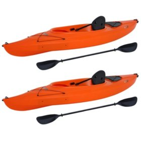 "Lifetime Payette 9'8"" Sit-In Kayak - 2 Pack (Paddles Included)"