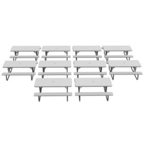 Lifetime 6-Foot Classic Folding Picnic Table - 10 Pack