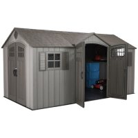 Deals on Lifetime 15-ft x 8-ft Rough Cut Dual-Entry Outdoor Storage Shed