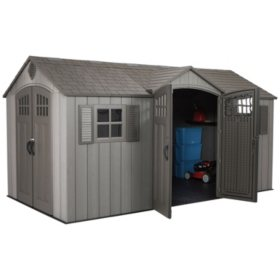 Lifetime 15' x 8' Rough Cut Dual-Entry Outdoor Storage Shed