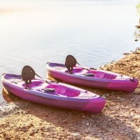 Lifetime Tamarack 100 Sit-On-Top Kayak - 2 Pack (Paddles Included)