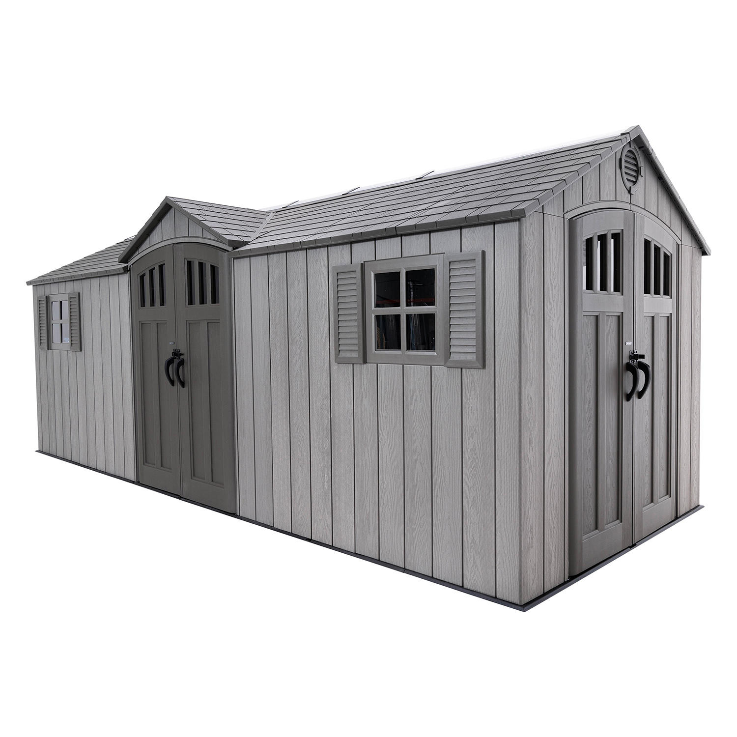 Lifetime (60351) 20′ x 8′ Outdoor Storage Shed with Adjustable Shelving System