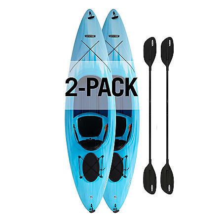 Lifetime Cruze 100 Sit-In Kayak, 91068 (2 Pack)