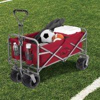 Smart Design NCAA Heavy-Duty Collapsible Sports Wagon/Beach Cart - Choose Your Team