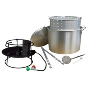 King Kooker The Sack Pack #7085 Boiling Package with Jet Cooker and 70-Qt. Aluminum Pot