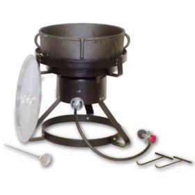 King Kooker Jambalaya Cooker and 5-Gallon Cast Iron Pot