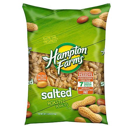 Hampton Farms Salted In-Shell Peanuts (5lbs)