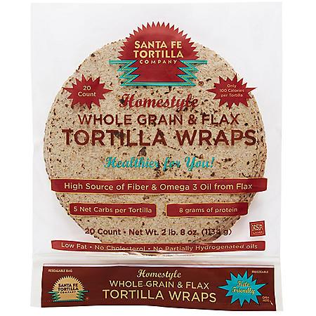 Santa Fe Tortilla Homestyle Whole Grain Tortilla (40oz)