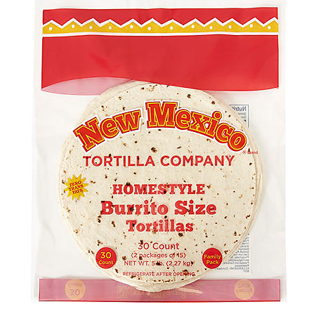 "New Mexico Tortilla Company 10"" Burrito-Size Tortillas (40oz / 2pk)"