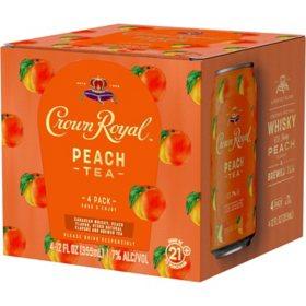 Crown Royal Peach Tea (355 ml, 4 pk.)