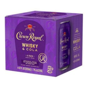 Crown Royal Whiskey and Cola (355 ml, 4 pk.)