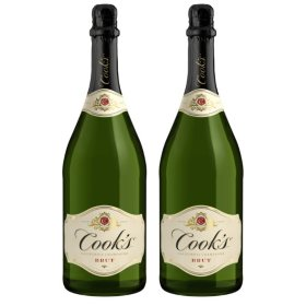 Cook's Brut California Champagne (1.5 L bottle, 2 pk.)