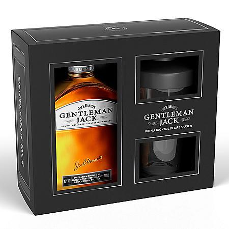 Jack Daniel's Gentleman Jack Whiskey with Shaker Gift Pack