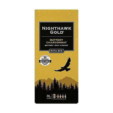 Bota Box Nighthawk Gold Buttery Chardonnay (3 L)