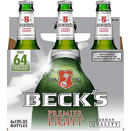 BECKS LIGHT 6 / 12 OZ BOTTLES