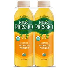 Naked Pressed Organic Valencia Orange Juice (32 oz., 2 pk.)