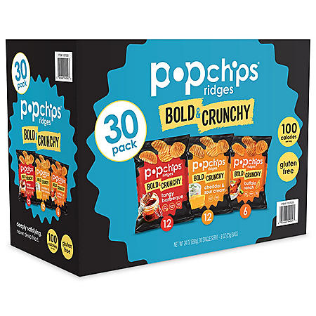 Popchips Bold & Crunchy Ridges Variety Box (30 ct.)