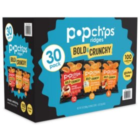 Popchips Bold & Crunchy Ridges Variety Box (30 ct.)