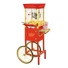 Nostalgia Vintage Collection Commercial Popcorn Cart (6oz. Kettle)