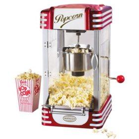 Nostalgia Retro Kettle Popcorn Maker, 2.5 oz.