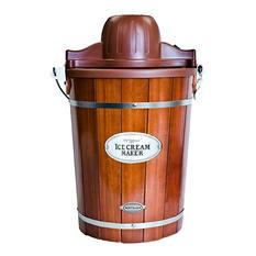 Nostalgia Vintage Collection Wood Bucket Ice Cream Maker (6-Quart)