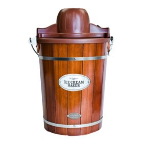 Nostalgia Vintage Collection Wood Bucket Ice Cream Maker (6-Quart)