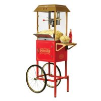 Nostalgia  Old-Fashioned Movie-Time Popcorn Cart - Assorted Colors