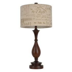 French Script Table Lamp