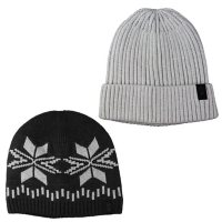 Free Country Men's Knit Beanies, 2 Pack
