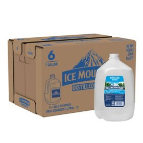 Ice Mountain Distilled Water (1gal / 6pk)