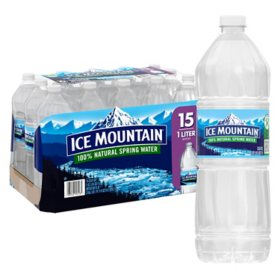 Ice Mountain 100% Natural Spring Water (1L / 15 pk)