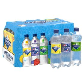 Ice Mountain Sparkling Spring Water Variety Pack (16.9oz / 24pk)