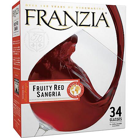 Franzia Fruity Red Sangria Red Wine (5 L box)