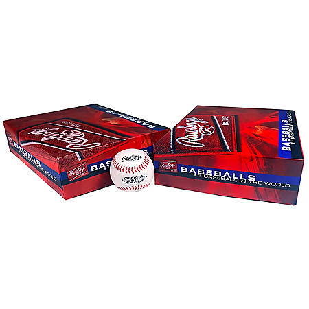 Rawlings Official League Recreational Youth Baseballs, Box of 24 OLB3 Balls (Ages 8 & Under)