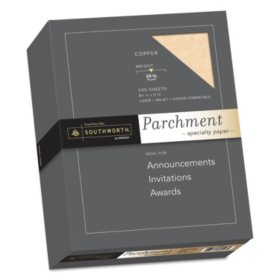 "Southworth Parchment Specialty Paper, 8.5"" x 11"", 24 lb., Copper, 500 Sheets"