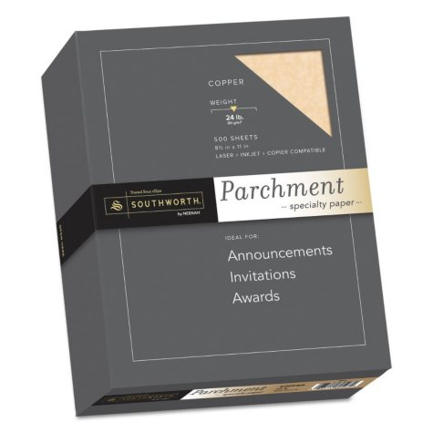 Southworth - Fine Parchment Paper, 24lb, Copper - Ream