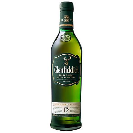 Glenfiddich 12 Year Single Malt Scotch Whisky (750 ml)