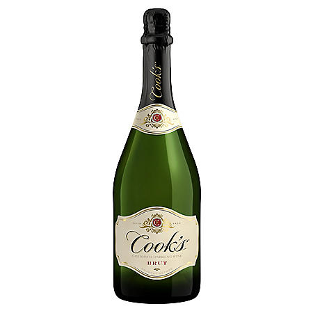 Cook's California Champagne Extra Dry White Sparkling Wine (750mL)