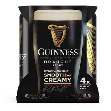 GUINNESS DRAUGHT 4  / 14.9 OZ CANS