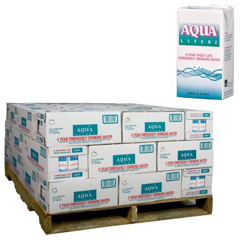 Aqua Literz Emergency Water - 540 ct. - 33 oz. (1/2 pallet - 45 cs.)