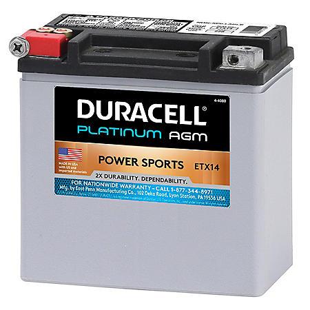 Duracell AGM Powersport Battery - ETX14