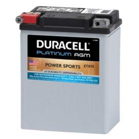 Duracell AGM Powersport Battery - ETX15