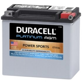 Duracell AGM Powersport Battery - ETX16L